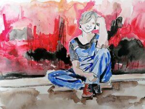 La ragazza in blù