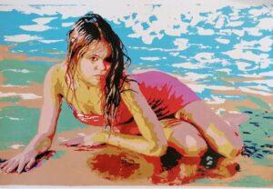 la ragazza al mare